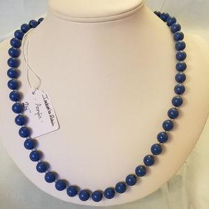 "4/$30 NWT Handmade ""Pearl"" Necklace Denim Blue 24"""